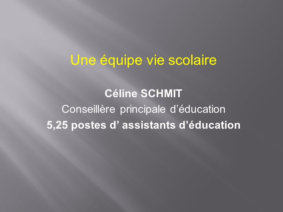 5,25 postes d' assistants d'éducation