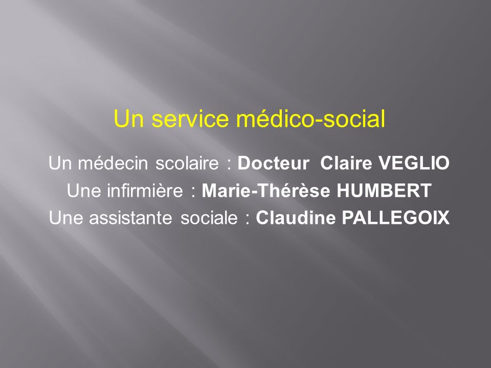 Un service médico-social