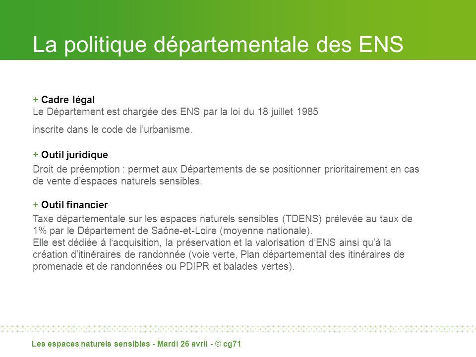 La politique départementale des ENS