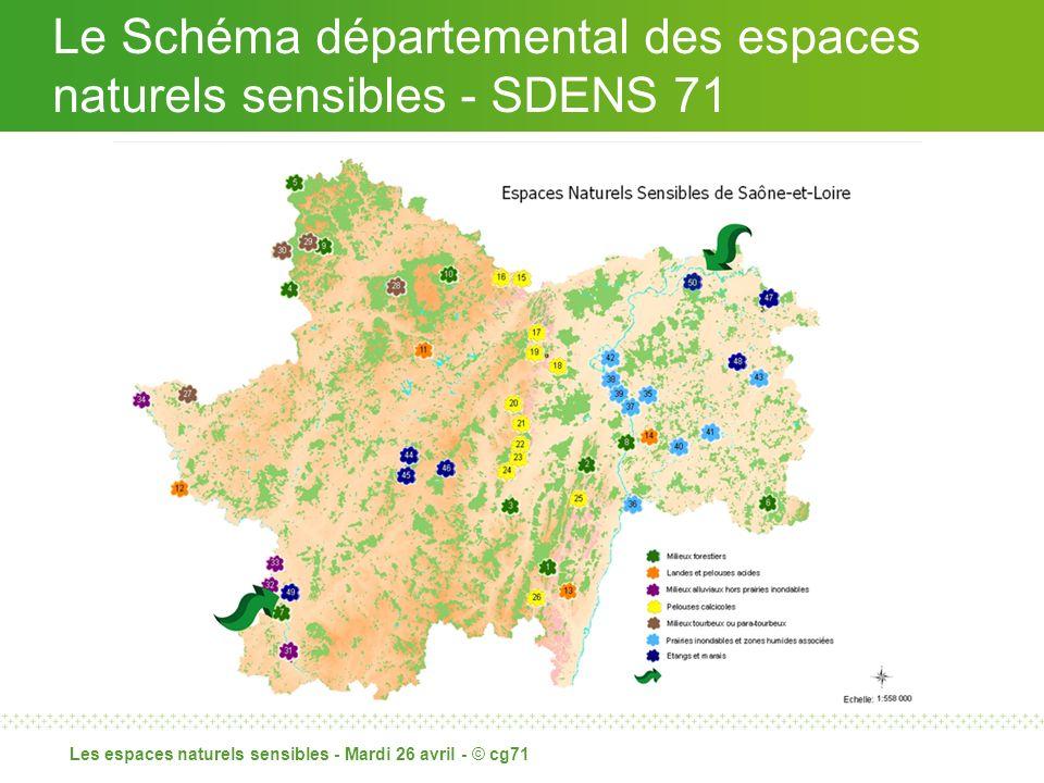 Le Schéma départemental des espaces naturels sensibles - SDENS 71