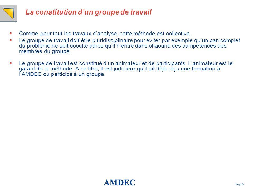 La constitution d'un groupe de travail