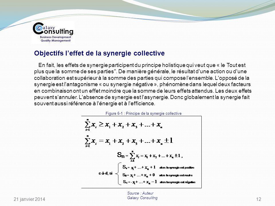 Objectifs l'effet de la synergie collective