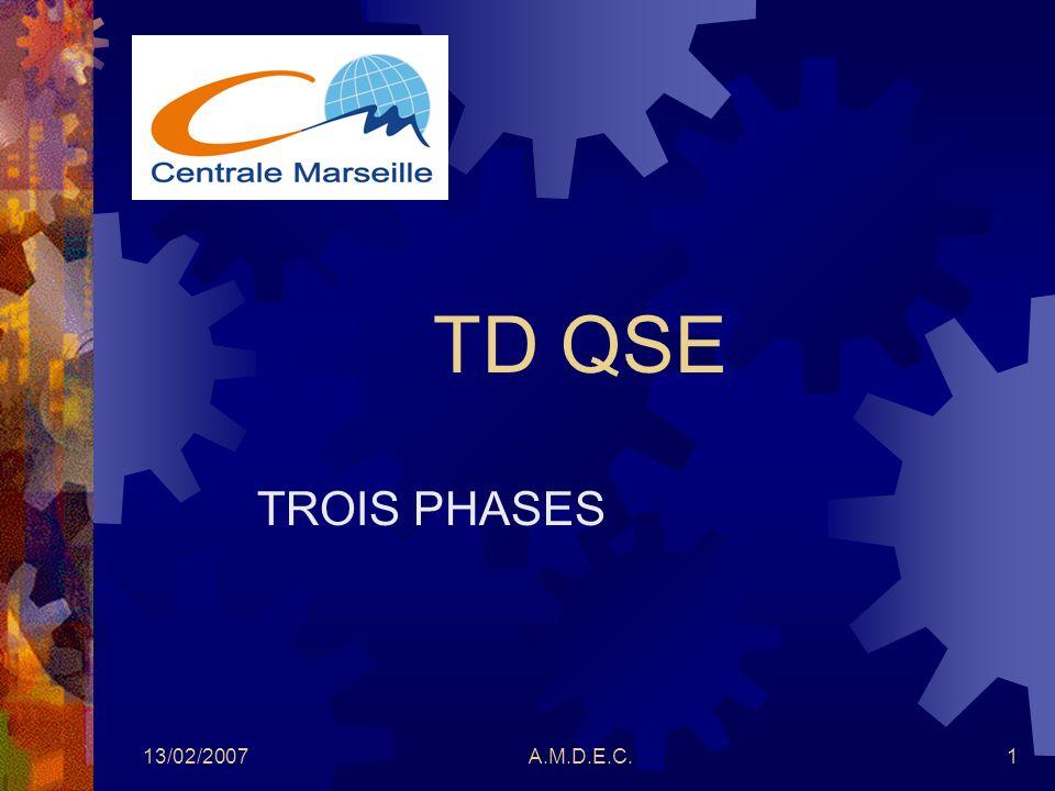 TD QSE TROIS PHASES 13/02/2007 A.M.D.E.C.