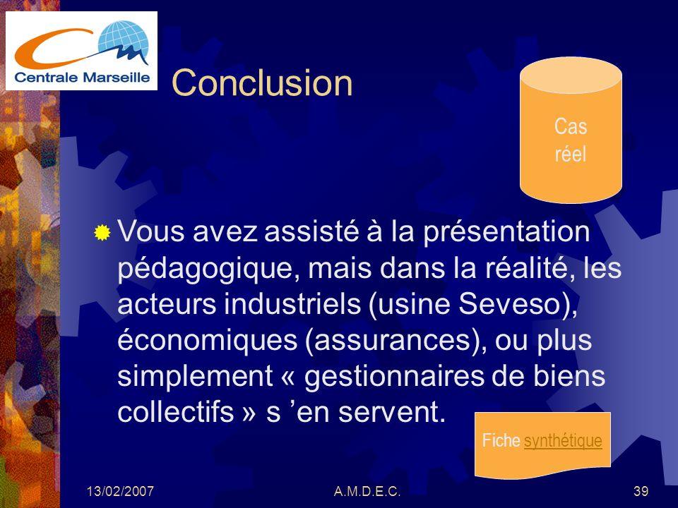 Conclusion Cas. réel.