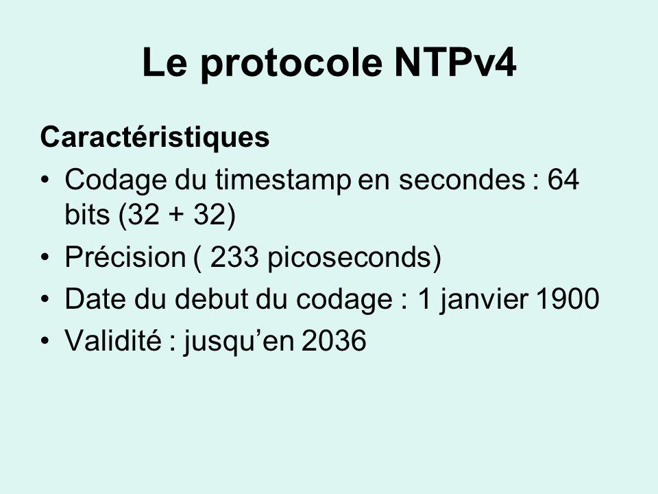 Le protocole NTPv4 Caractéristiques
