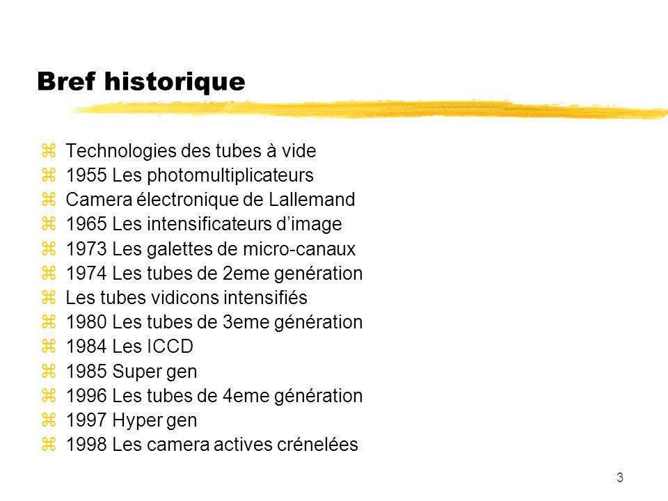 Bref historique Technologies des tubes à vide