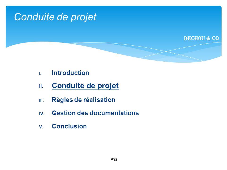 Conduite de projet Conduite de projet Introduction
