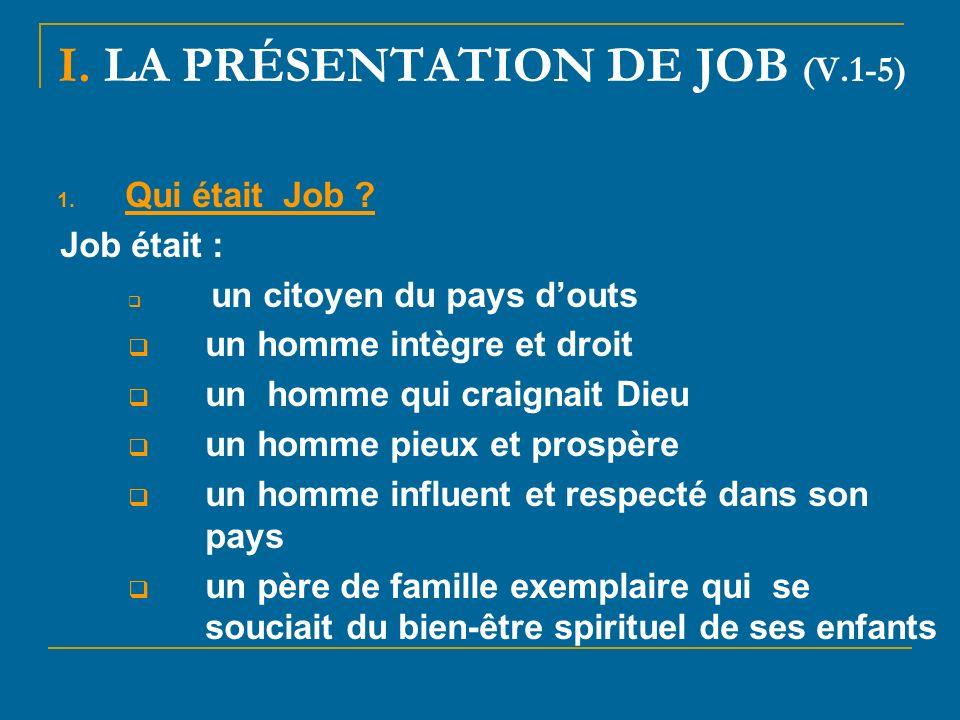 I. LA PRÉSENTATION DE JOB (V.1-5)