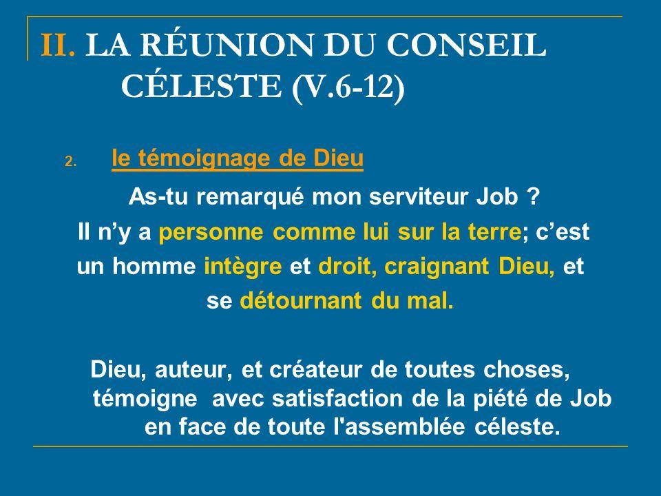 II. LA RÉUNION DU CONSEIL CÉLESTE (V.6-12)