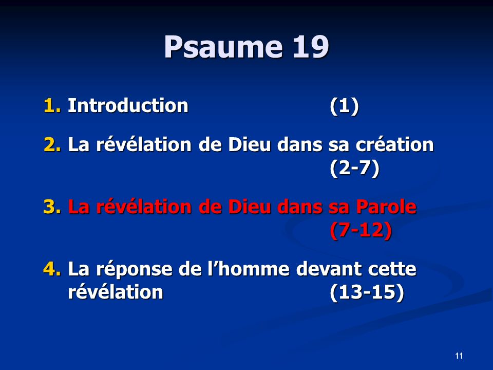 Psaume 19 Introduction (1)