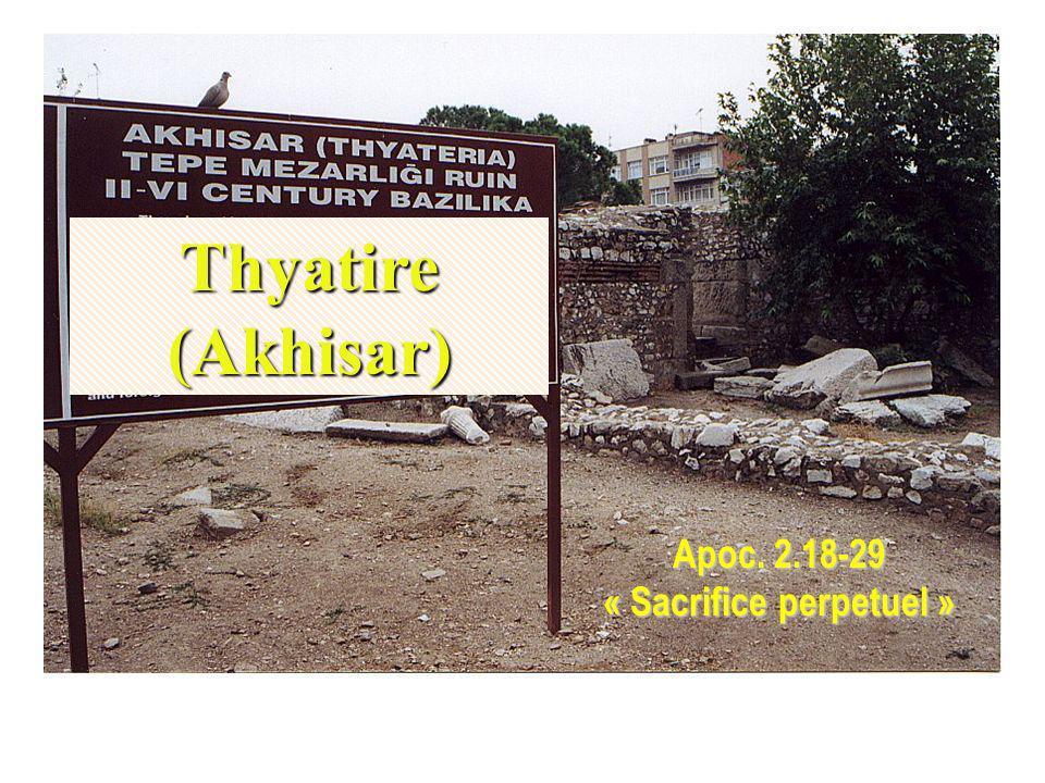 Apoc. 2.18-29 « Sacrifice perpetuel »
