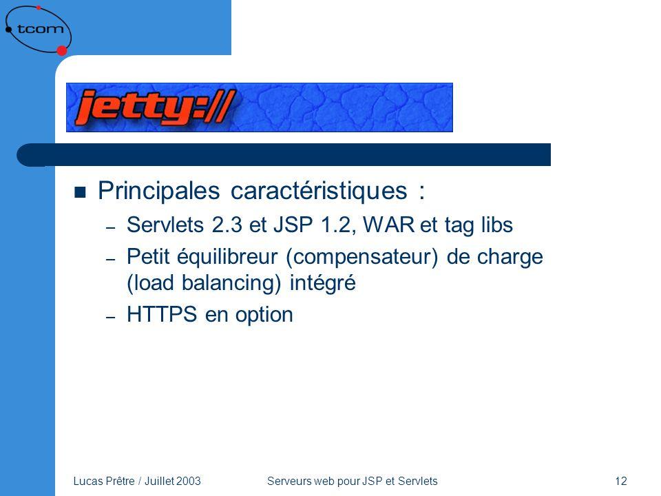 Jetty Principales caractéristiques :