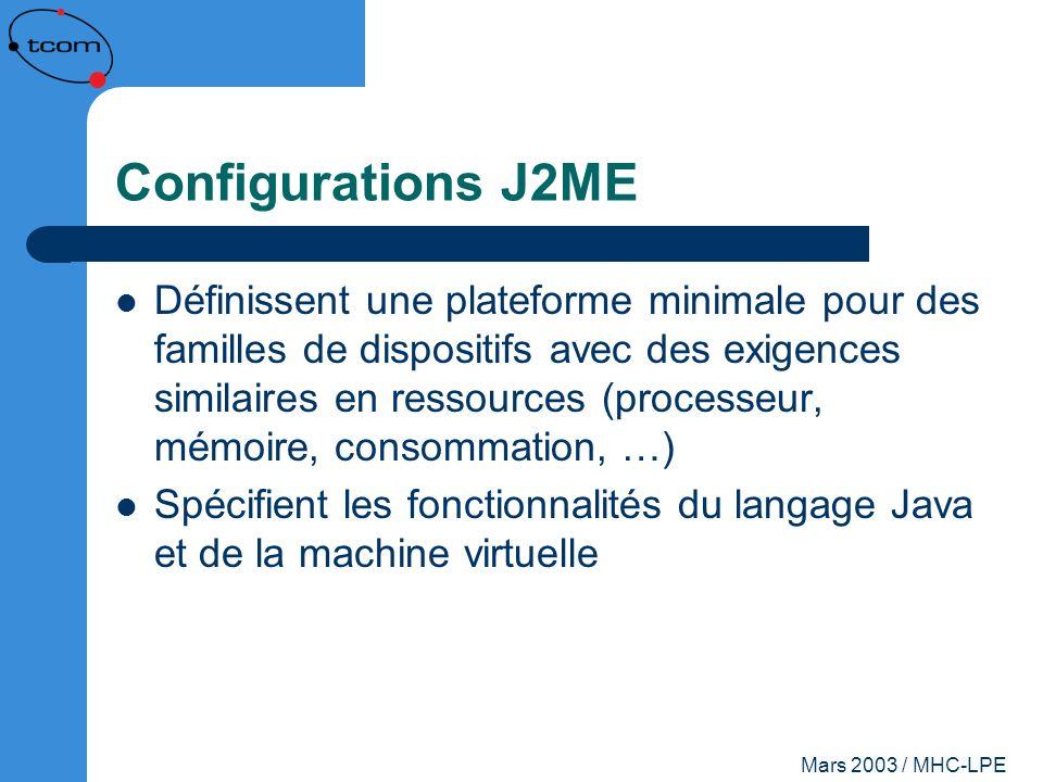 Configurations J2ME