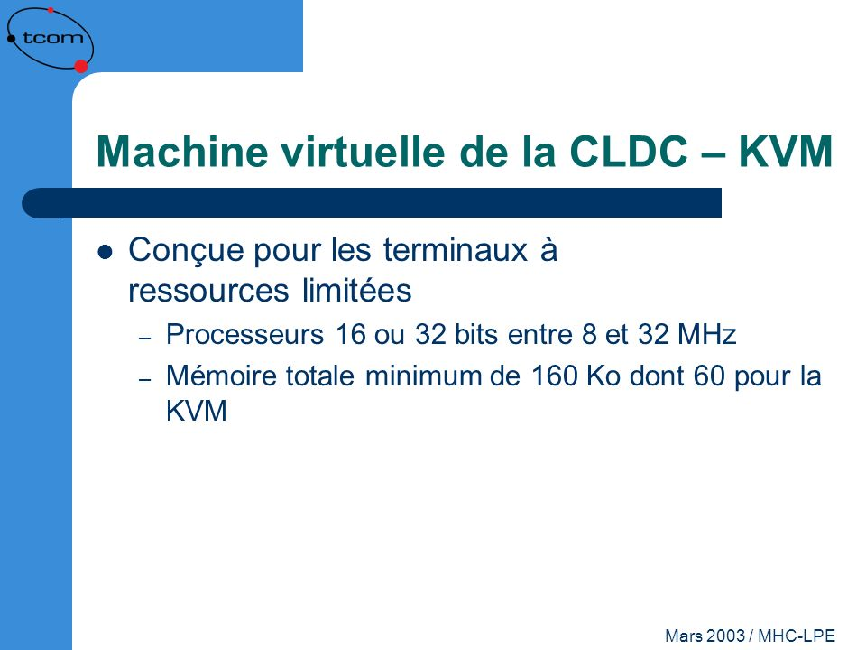 Machine virtuelle de la CLDC – KVM