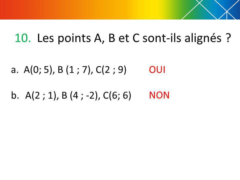 Les points A, B et C sont-ils alignés