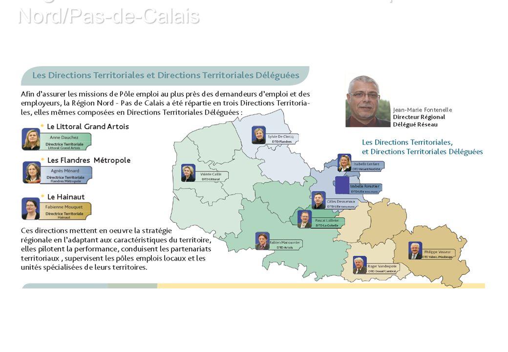 Organisation territoriale du Pôle Emploi Nord/Pas-de-Calais