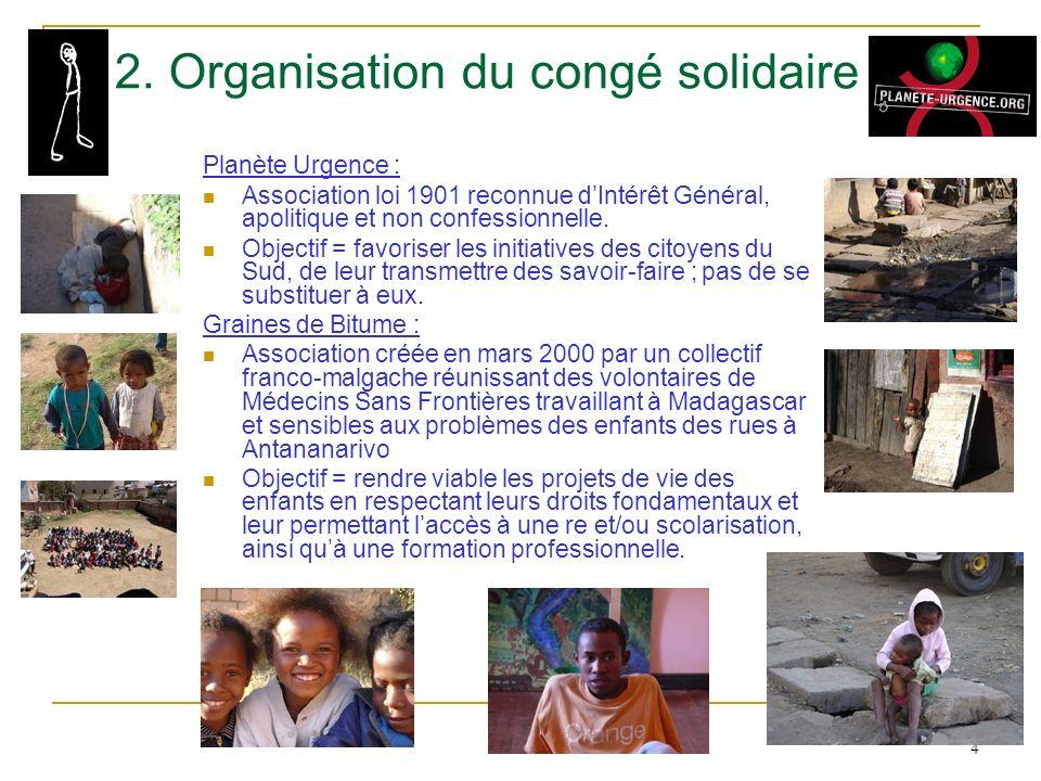 2. Organisation du congé solidaire