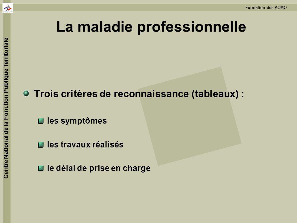 La maladie professionnelle