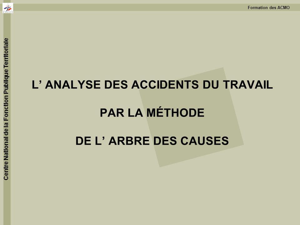 L' ANALYSE DES ACCIDENTS DU TRAVAIL PAR LA MÉTHODE DE L' ARBRE DES CAUSES