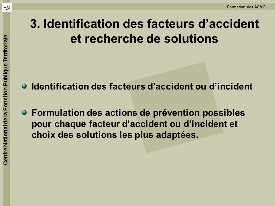 3. Identification des facteurs d'accident et recherche de solutions