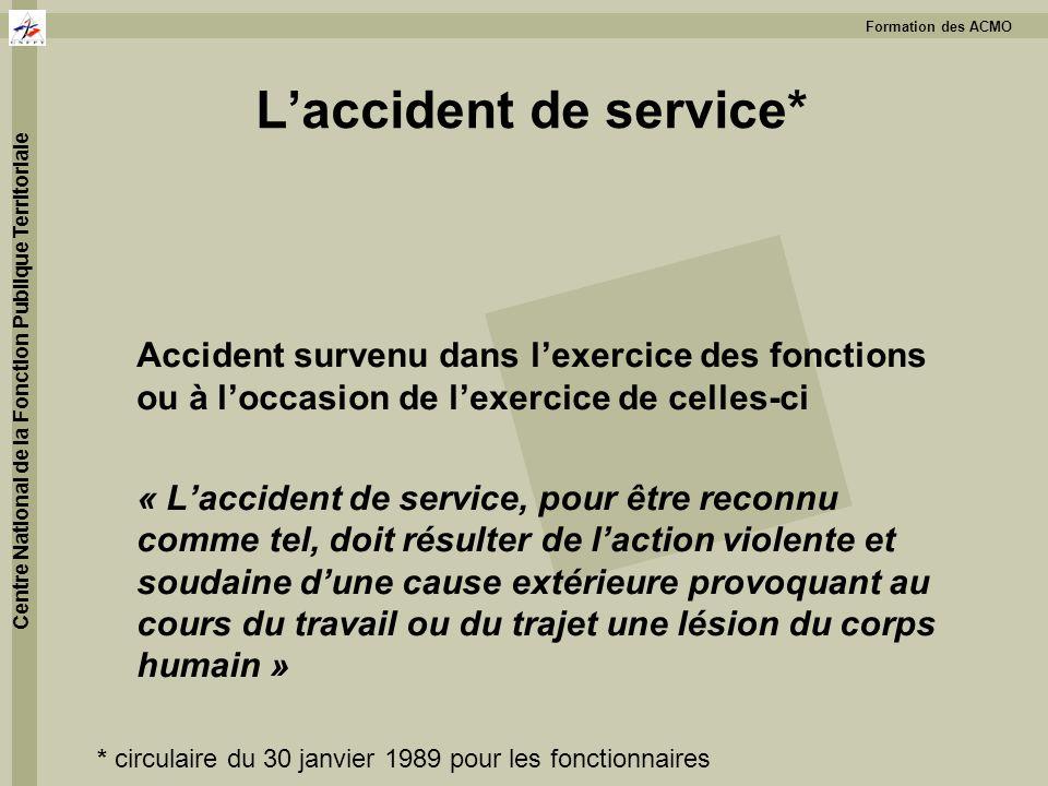 L'accident de service*