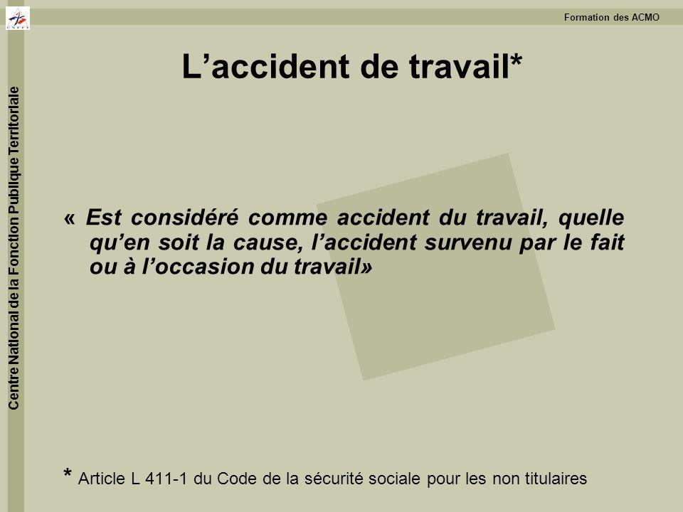 L'accident de travail*