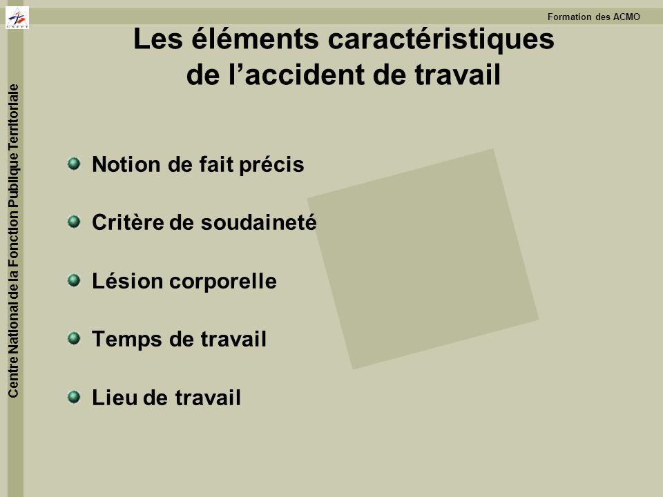 Les éléments caractéristiques de l'accident de travail