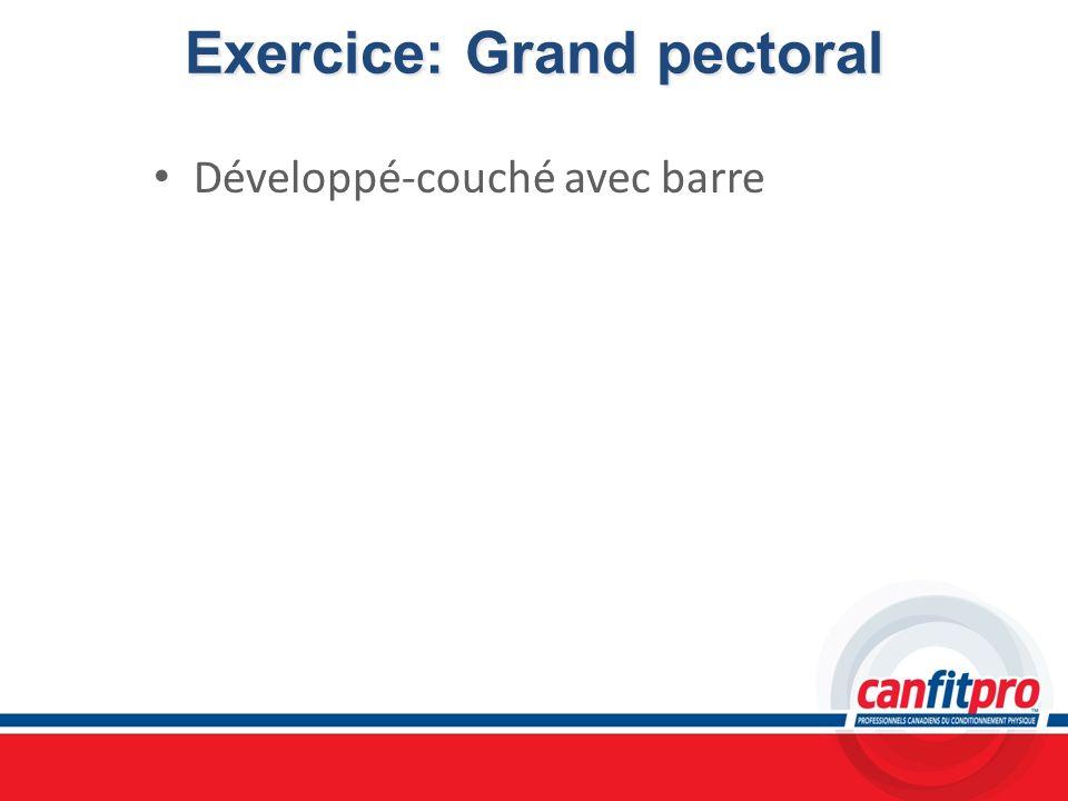 Exercice: Grand pectoral