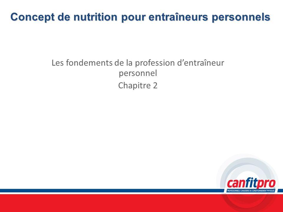 Concept de nutrition pour entraîneurs personnels