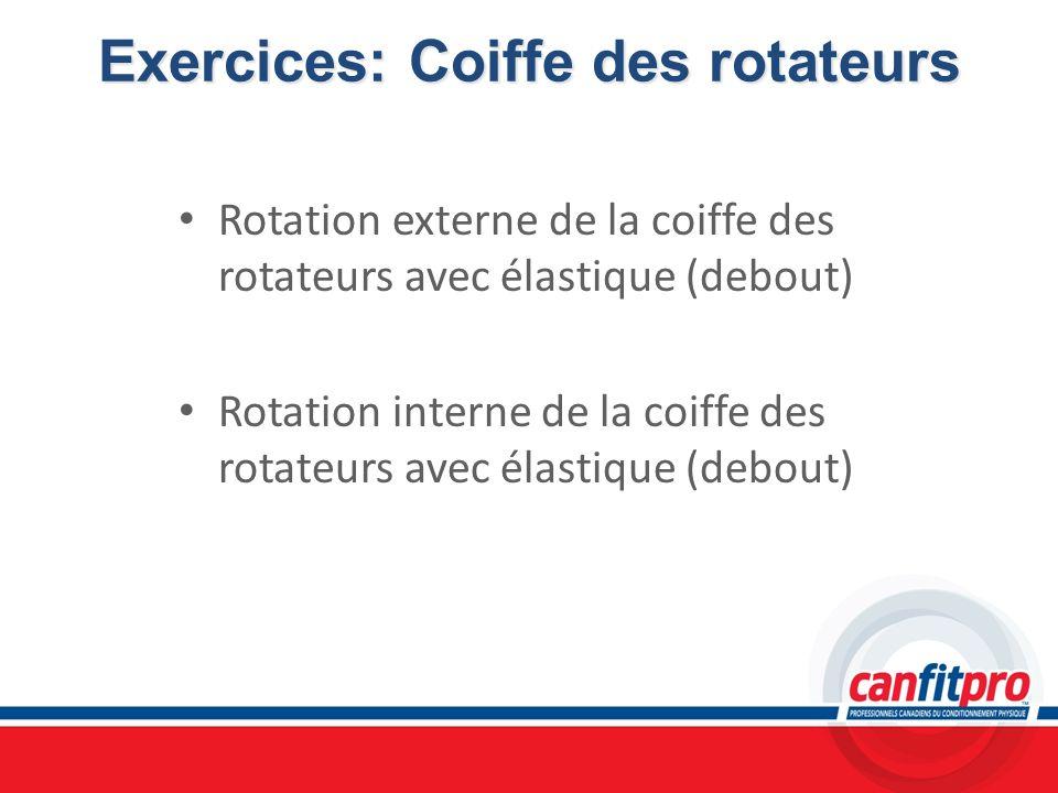 Exercices: Coiffe des rotateurs