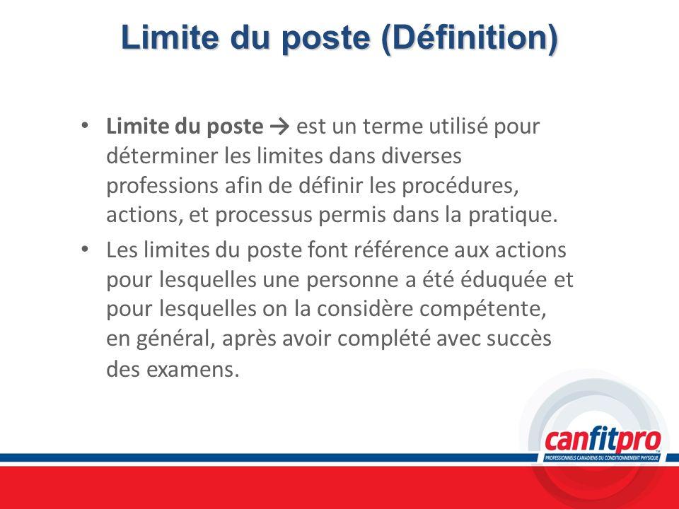 Limite du poste (Définition)