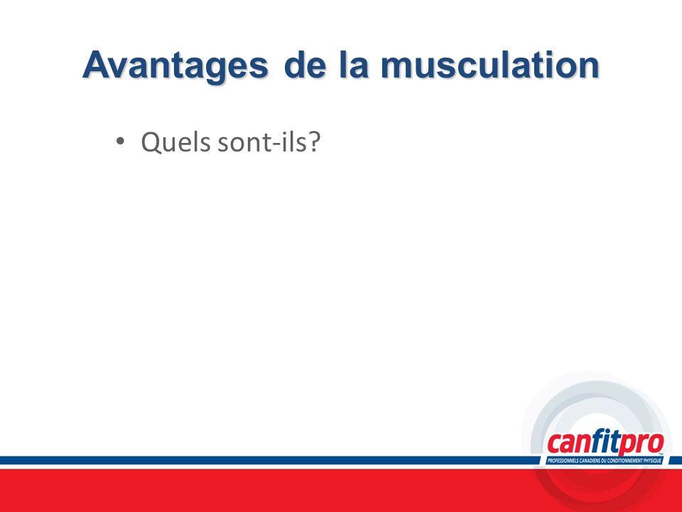 Avantages de la musculation