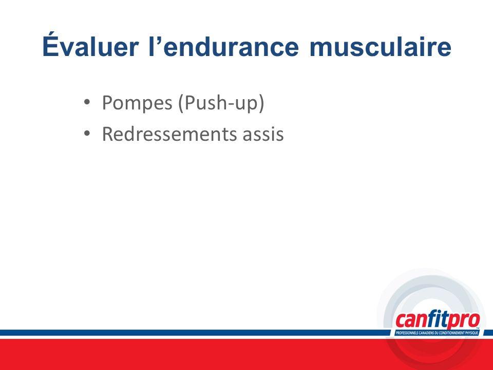 Évaluer l'endurance musculaire