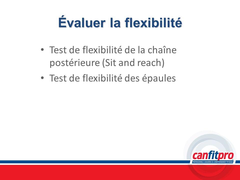 Évaluer la flexibilité