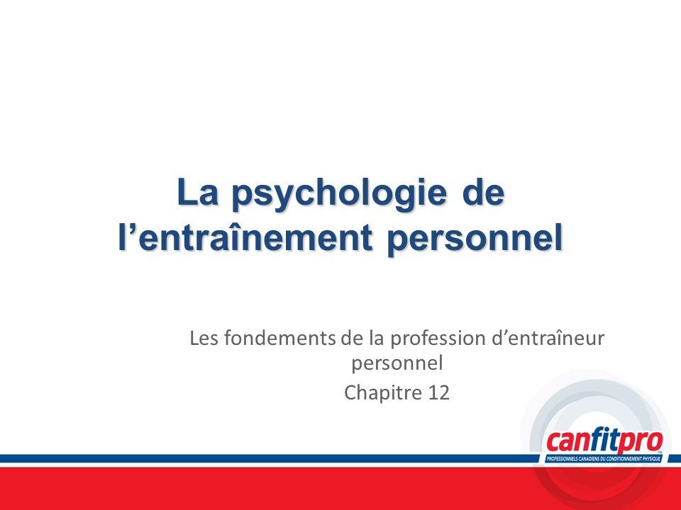 La psychologie de l'entraînement personnel