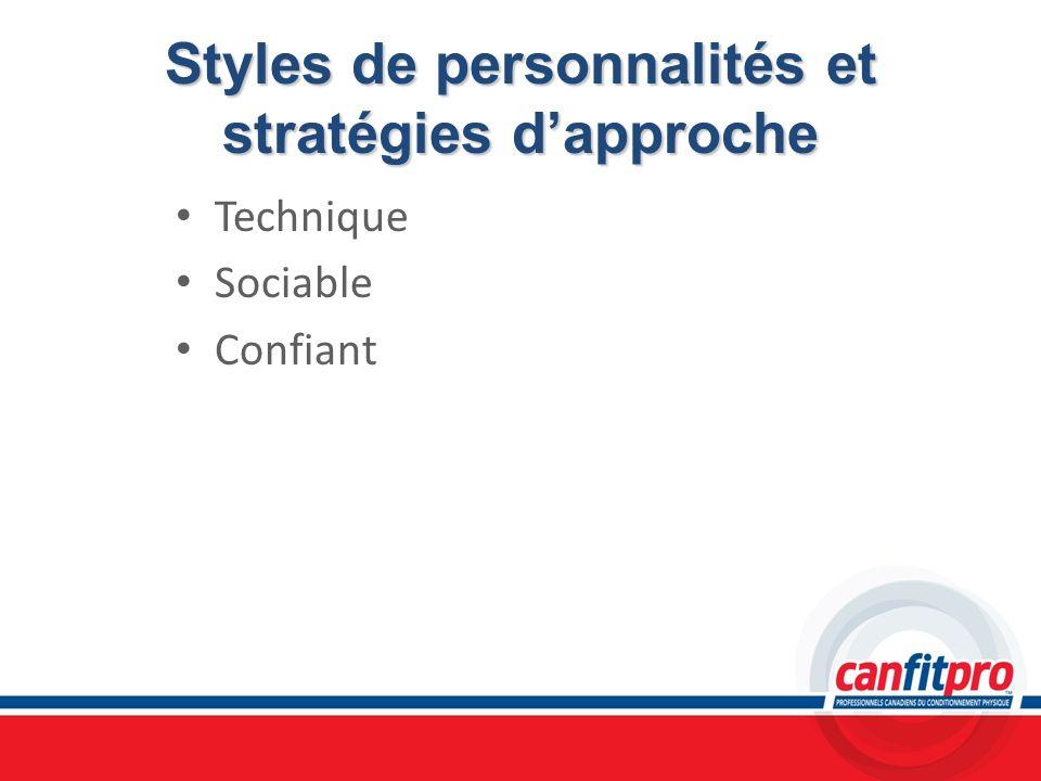 Styles de personnalités et stratégies d'approche