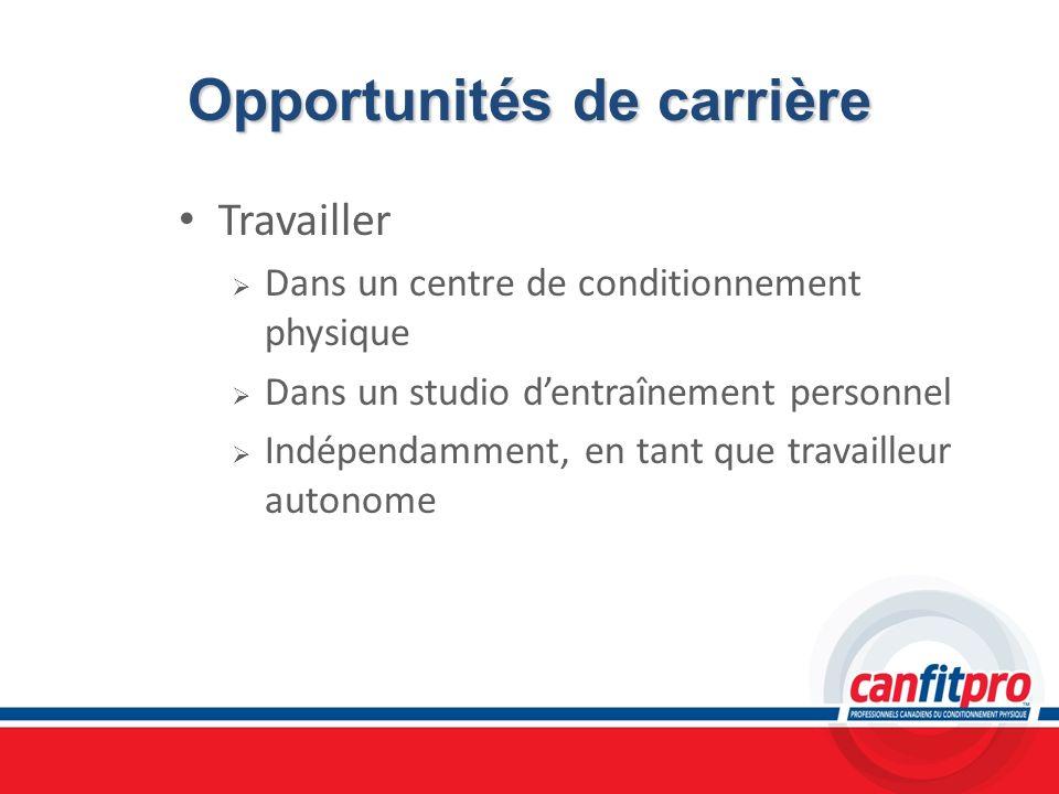 Opportunités de carrière