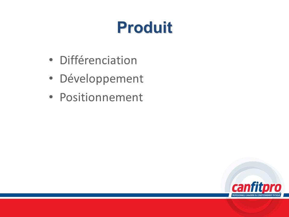 Produit Différenciation Développement Positionnement Chapitre 13
