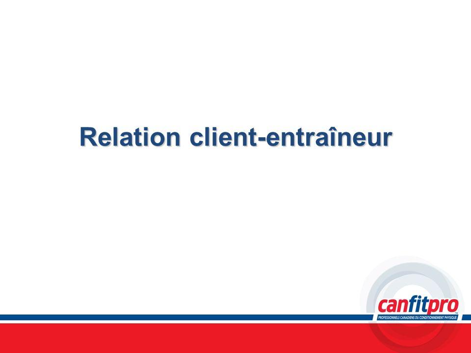Relation client-entraîneur