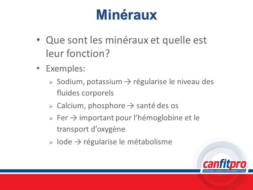 Minéraux Que sont les minéraux et quelle est leur fonction Exemples: