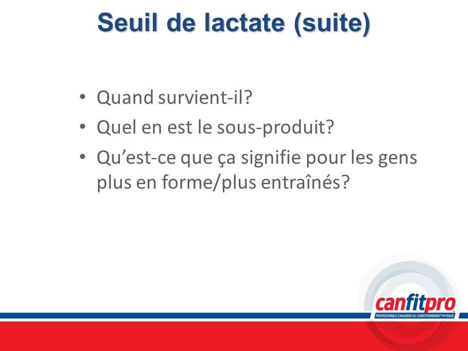 Seuil de lactate (suite)