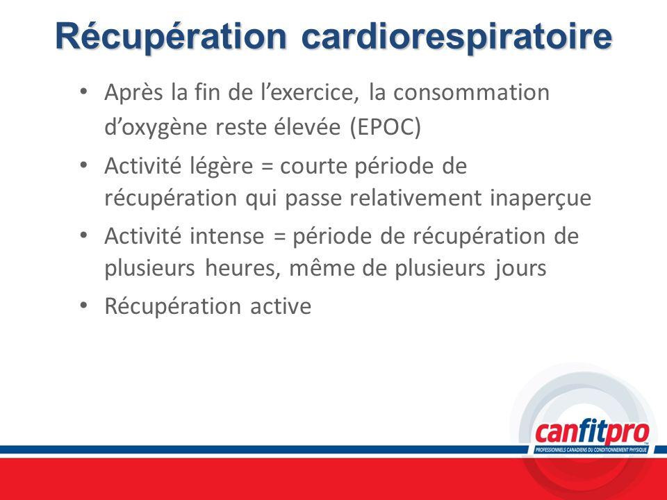 Récupération cardiorespiratoire