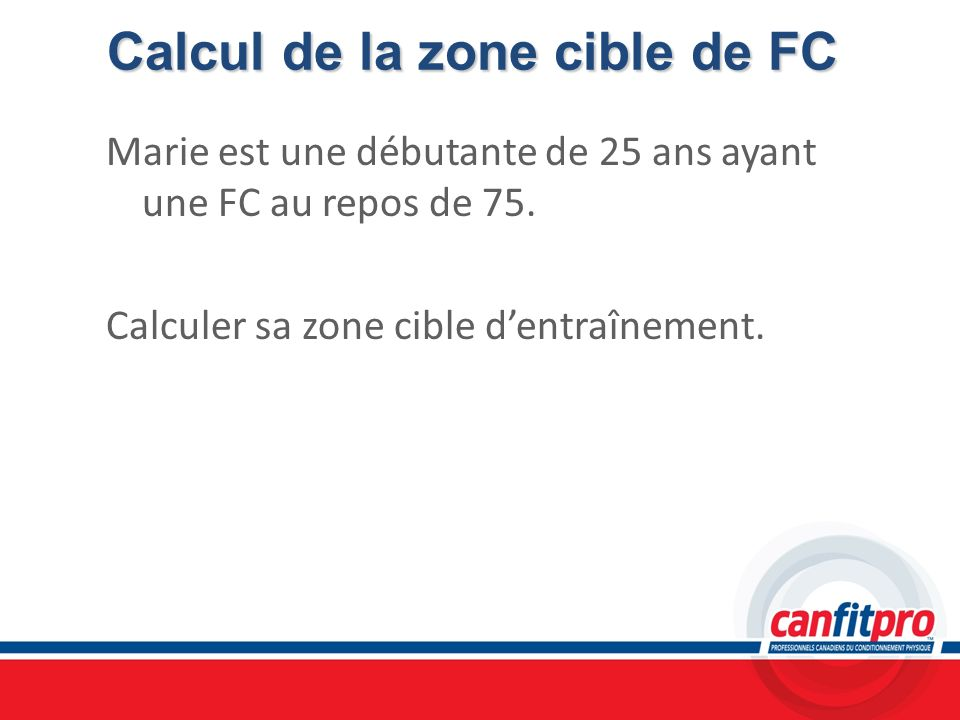 Calcul de la zone cible de FC
