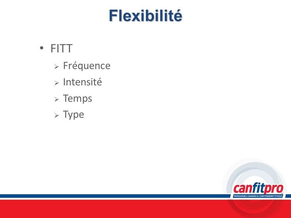Flexibilité FITT Fréquence Intensité Temps Type Chapitre 5