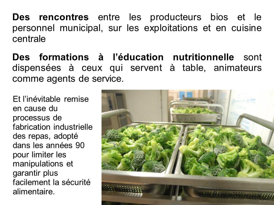 Des rencontres entre les producteurs bios et le personnel municipal, sur les exploitations et en cuisine centrale