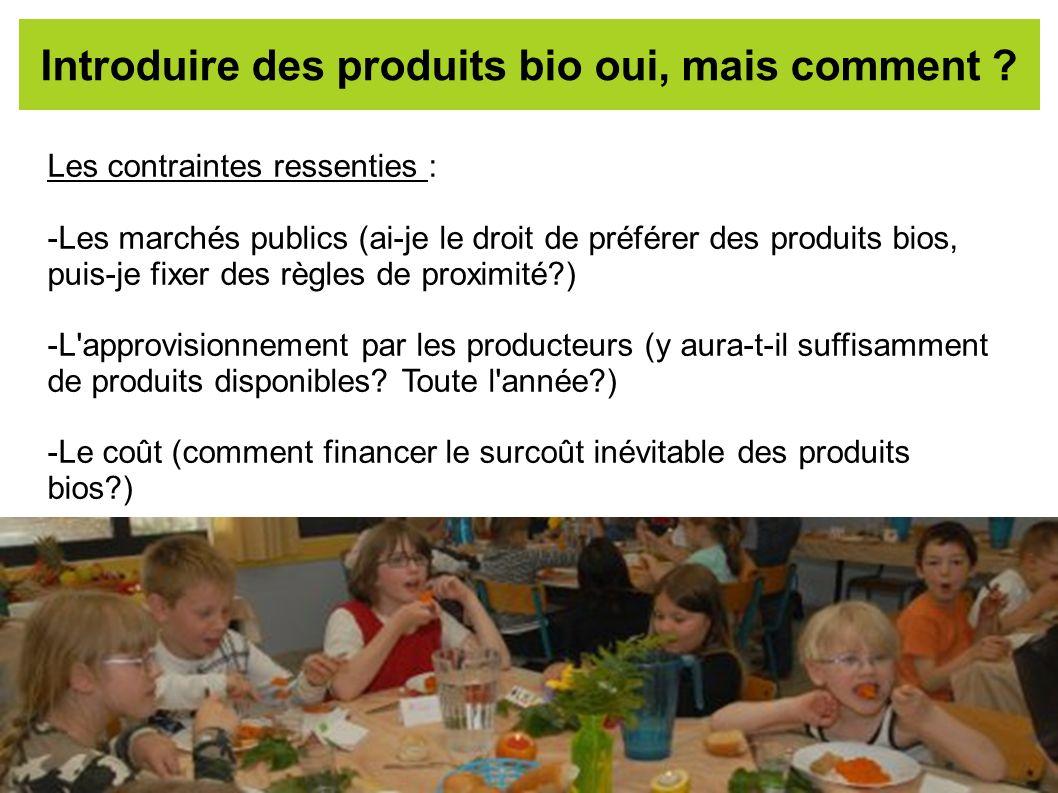 Introduire des produits bio oui, mais comment
