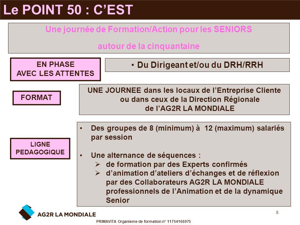 Le POINT 50 : C'EST Une journée de Formation/Action pour les SENIORS
