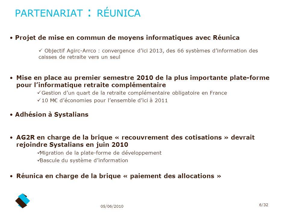PARTENARIAT : RÉUNICA Projet de mise en commun de moyens informatiques avec Réunica.