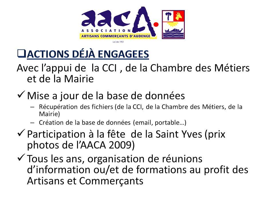 Avec l'appui de la CCI , de la Chambre des Métiers et de la Mairie