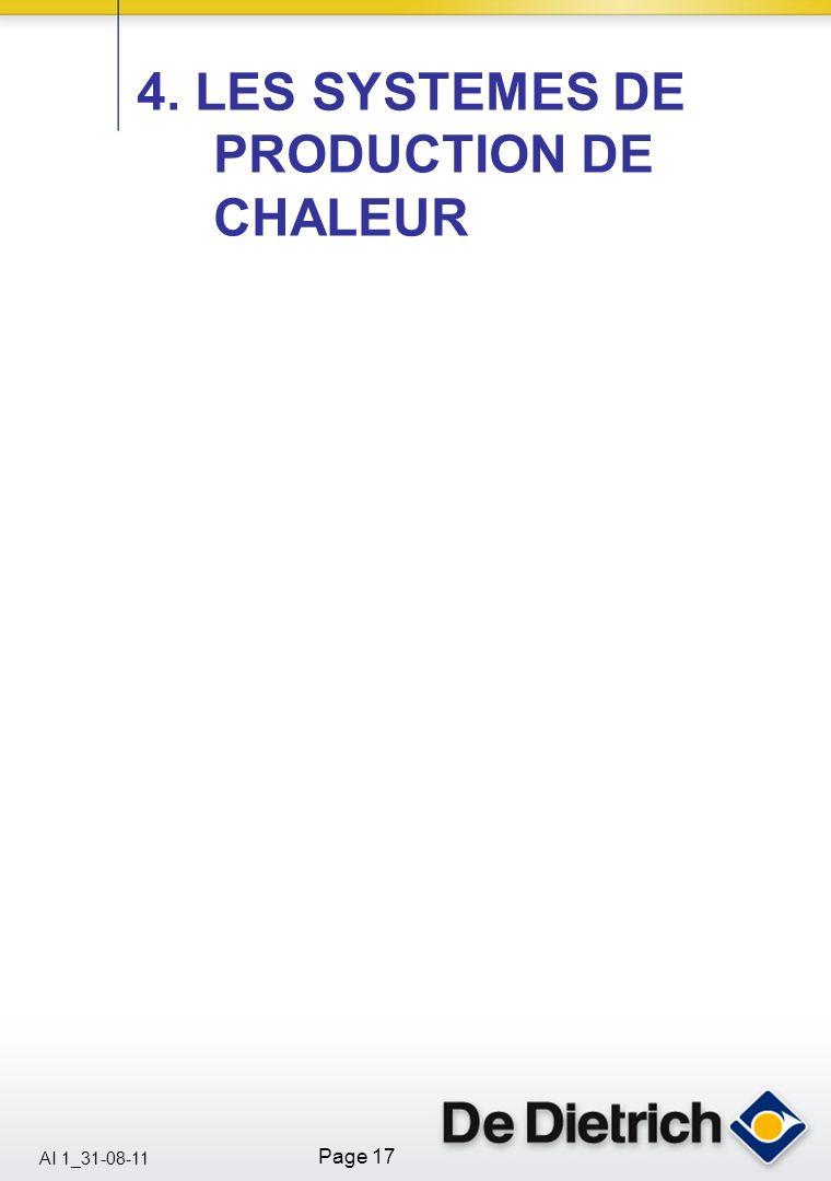 4. LES SYSTEMES DE PRODUCTION DE CHALEUR